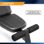 Best Workout Multi-Utility Weight Bench SB-10115 features a comfortable seat pad that is made of high density foam padding and upholstery