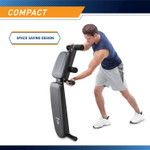 Best Workout Multi-Utility Weight Bench SB-10115 compact design is a space spacing benefit