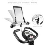Easily tilt the Foldable Bike Media Holder   Marcy NS-T-Rack  to adjust visibility