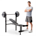 standard bench with 80lb weight set competitor CB-20111 bench press