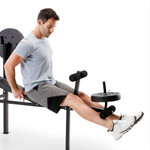 standard bench with 80lb weight set competitor CB-20111 with leg developer for leg lifts