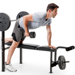 standard bench with 80lb weight set competitor CB-20111 with model