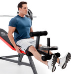 Marcy Multi-Position Olympic Bench MWB-5146 leg lift with leg developer