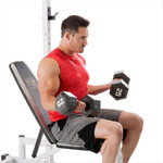 Marcy Power Cage and Weight Bench SM-5092 dumbbell curls