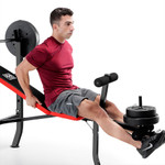 Marcy Pro Standard Weight Bench with 100lb Weight Set PM-2084 leg extensions