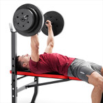 Marcy Pro Standard Weight Bench with 100lb Weight Set PM-2084 bench press