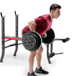 Marcy Pro Standard Weight Bench with 100lb Weight Set PM-2084 deadlifts