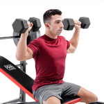 Marcy Pro Standard Weight Bench with 100lb Weight Set PM-2084 Military Press