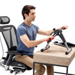 Marcy Portable Mini Magnetic Cardio Cycle for Home Gym and Office Use - NS-914 On Top of Desk