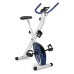 Marcy Foldable Upright Exercise Bike with Adjustable Resistance in Multiple Colors - NS-5926B - Product Shot - Navy Blue