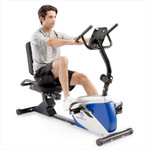 marcy magnetic recumbent bike ME-1019R in use