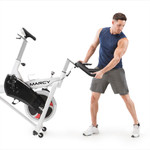 marcy club trainer exercise bike NSP-490 easy to transport wheels