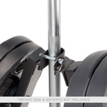marcy a-frame olympic weight plate tree vertical bar holder PT-5740 close up plates
