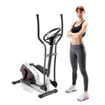regenerating magnetic elliptical trainer machine marcy ME-704 front with model