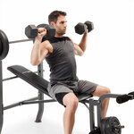 competitor pro 100lb standard bench CB-5573 with model military press