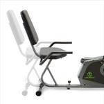 Marcy Adjustable Magnetic Resistance Recumbent Bike NS-1206R Seat Moves Forward Backward