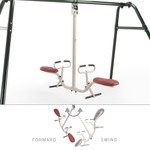 Tilt-A-Swing Swings Forward Backward Sideways 360 Gym Dandy GD-6662 Moves Front and Back