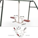 Tilt-A-Swing Swings Forward Backward Sideways 360 Gym Dandy GD-6662 Moves Front and Back