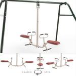 Tilt-A-Swing Swings Forward Backward Sideways 360 Gym Dandy GD-6662 Spins Around