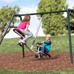Tilt-A-Swing Swings Forward Backward Sideways 360 Gym Dandy GD-6662 with Kids-2