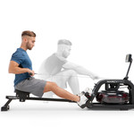 Marcy Water Rower Machine NS-6070RW in use by model