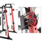 Marcy Smith Machine  Cage System with Pull-Up Bar and Landmine Station  SM-4033 - Adjustable pulley system