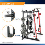 Marcy Smith Machine  Cage System with Pull-Up Bar and Landmine Station  SM-4033 - Weight Posts, Landmine station, and bar Storage