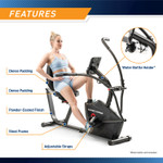 Marcypro Dual Action Cross Training Recumbent Exercise Bike with Arm Exercisers  Marcypro JX-7301 - Water Bottle Holder Infographic