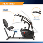 Marcypro Dual Action Cross Training Recumbent Exercise Bike with Arm Exercisers  Marcypro JX-7301 - Dual Action Arms Infographic