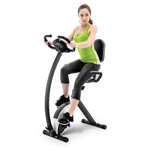 820af6a9871 The Marcy Foldable Exercise Bike with High Back Seat NS-653 is a convenient  low ...