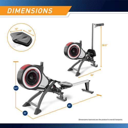 The Marcy Turbine Rower NS-6050RE - Dimensions