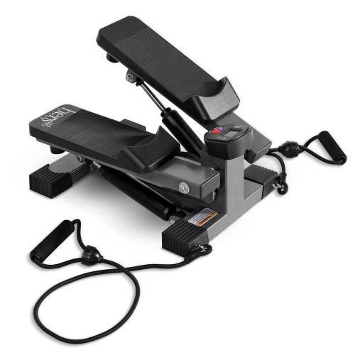 The Mini Stepper with Bands Hers MS-68 include resistance bands to deliver a fast full body workout