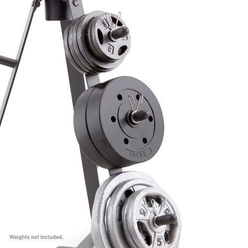 The Marcy PT-36 Standard Weight Plate Tree helps keep your weights organized