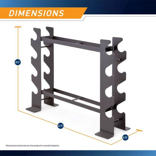 Compact Dumbbell Rack DBR-56 - Dimensions