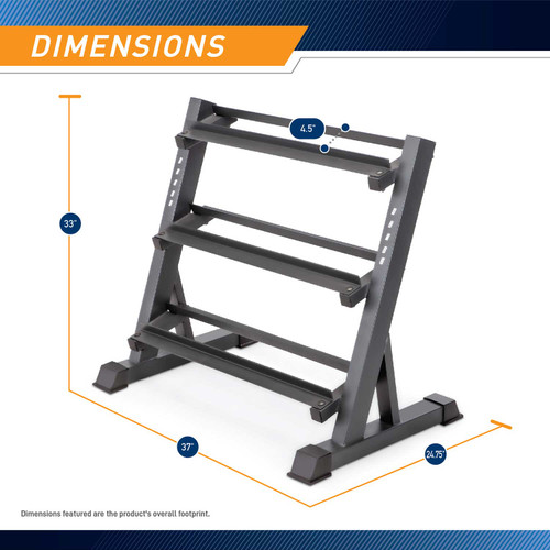 The Marcy 3 Tier Dumbbell Rack DBR-86 - Dimensions