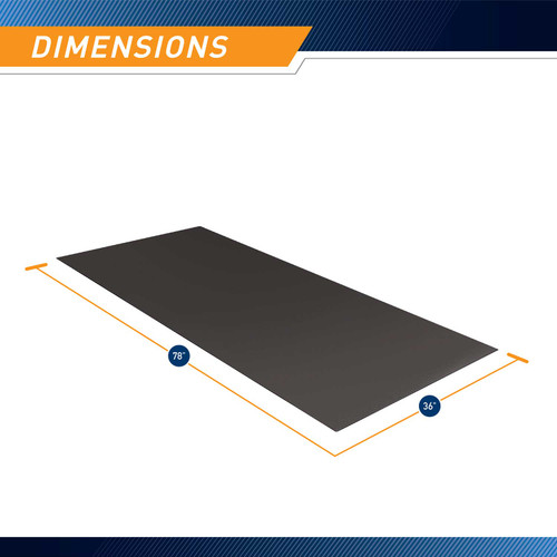 Marcy Equipment MAT-366 is 78 inches long and 36 inches wide