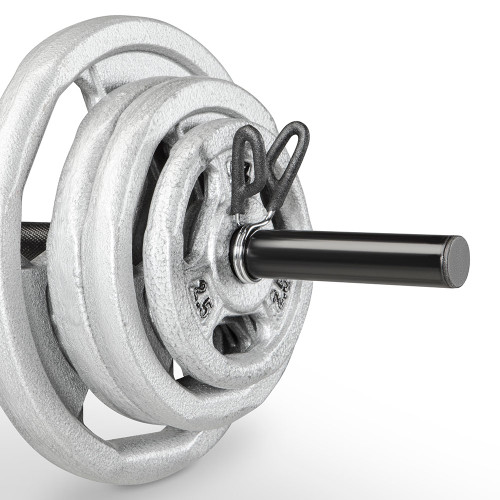 The Standard Bar Spring Clip Collars RBC-2 safely secure your weight bar