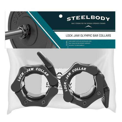 The SteelBody OBC-5 Lock Jaw Collars is built to ensure a safe and secure use for high intense workouts
