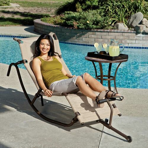 The Easy Outdoor Caribbean Lounge Chair GD-700 looks good in any backyard