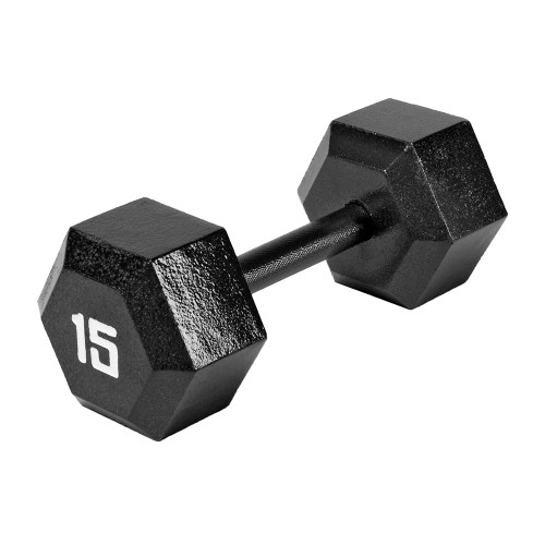 The Marcy 15 LB. ECO Hex Dumbbell IV-2015 free weight optimizes your high intensity interval body building training