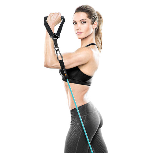 The Bionic Body Resistance Band Kit includes Single Grip Handles to make your workout more convenient