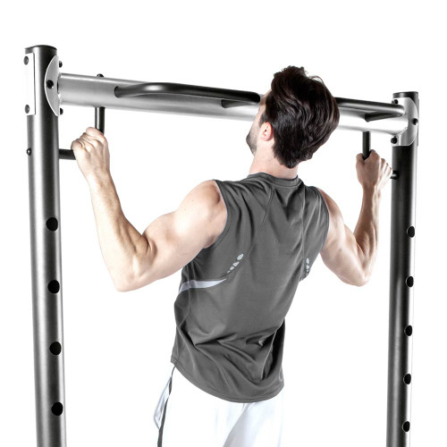 The Power Rack MWB-70500 in use - wide pull ups