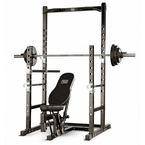 Includes bench to the Marcy Power Rack PM-3800 to optimize your HIIT conditioning