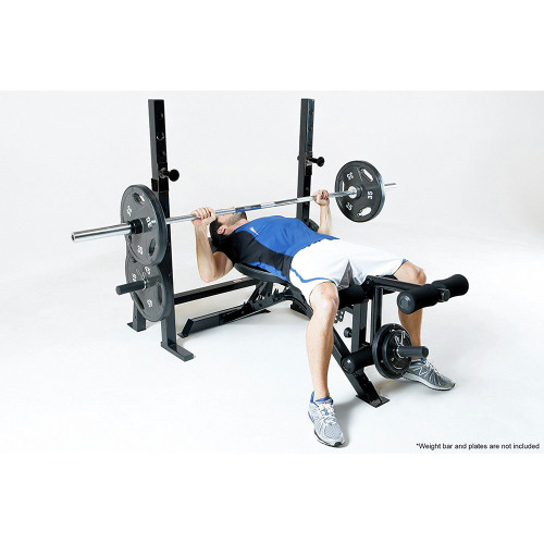 The Marcy Olympic Weight Bench PM-70210 in use - bench press