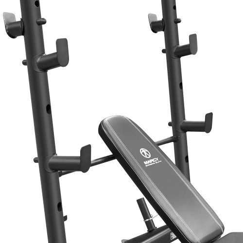 The Marcy Diamond Mid Size Bench MD-867W has multiple bar catches to vary your HIIT