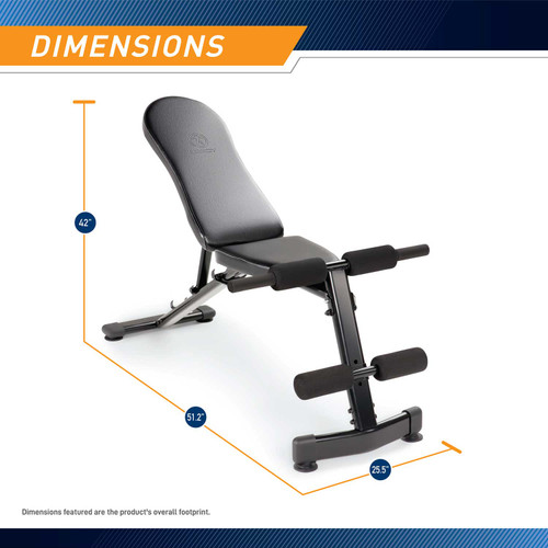 The Marcy Multi-Purpose Bench SB-228 - Dimensions