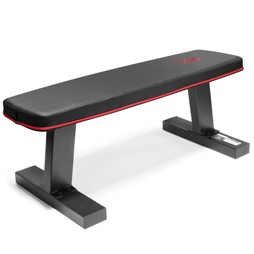 The Marcy SB-10510 Flat Bench is perfect for bench presses, one arm rows, and more