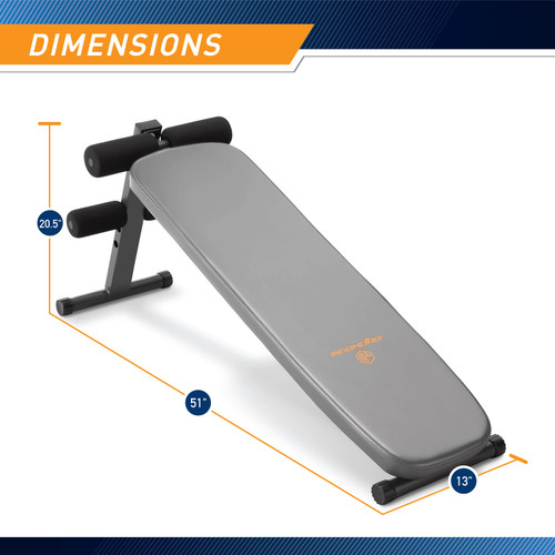 Utility Slant Board  Marcy JD-1.2 - Infographic - Dimensions