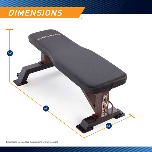 The SteelBody Flat Bench STB-10101 - Dimensions