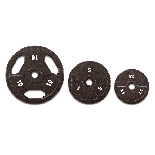 Varied size plates for the 100 lbs. Eco Standard Weight Set by Marcy to complete your home gym
